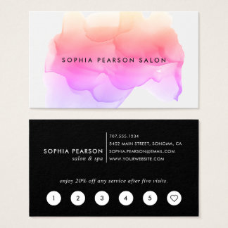 Modern Watercolor Blot | Loyalty Business Card