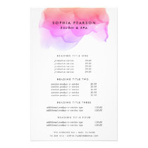 Modern Watercolor Blot | Pricing & Services Flyer