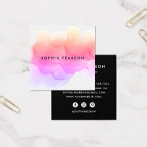 Modern Watercolor Blot | Social Media Square Business Card