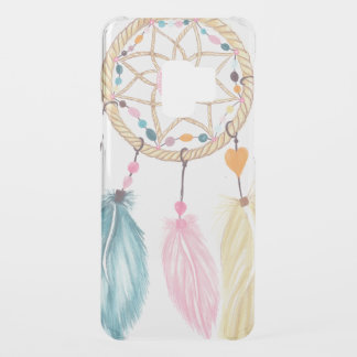 Modern watercolor boho dreamcatcher feathers uncommon samsung galaxy s9 case