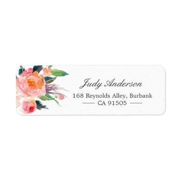 CardHunter Modern Watercolor Botanical Floral Label