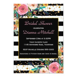 Modern Watercolor Bouquet Bridal Shower Card