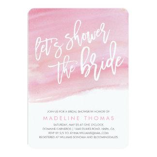 Modern Watercolor Bridal Shower Invitation