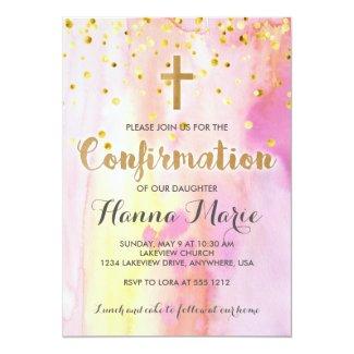 Modern Watercolor Confirmation Invitation