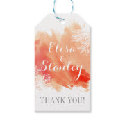 Modern watercolor coral reef wedding Thank You Pack Of Gift Tags