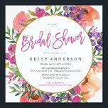 "MODERN WATERCOLOR FLORAL bridal shower invitation<br><div class=""desc""></div>"