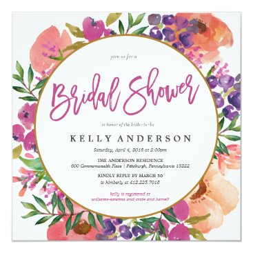 blush_printables MODERN WATERCOLOR FLORAL bridal shower invitation