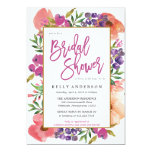 Modern Watercolor Floral Bridal Shower Invitation at Zazzle