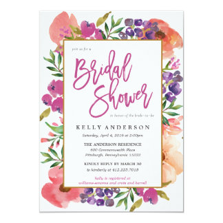 Floral Bridal Shower Invitations & Announcements | Zazzle
