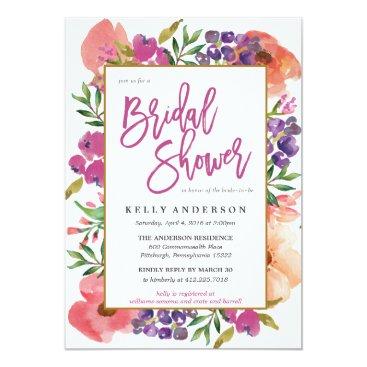 blush_printables MODERN WATERCOLOR FLORAL bridal shower invitation