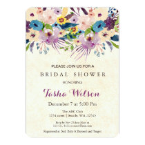 modern watercolor floral Bridal Shower Invite