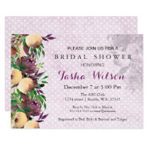 modern watercolor floral Bridal Shower Invite