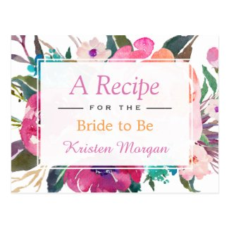 Modern Watercolor Floral Bridal Shower Recipe