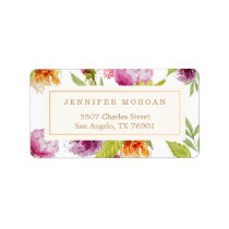 Modern Watercolor Floral Elegant Decor Label