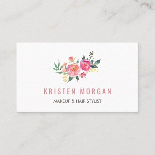 Modern watercolor floral facebook instagram icon business card modern watercolor floral facebook instagram icon business card colourmoves