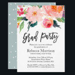 "Modern Watercolor Floral Graduation Party Invitation<br><div class=""desc"">Celebrate your graduation with this &quot;Modern Watercolor Floral Graduation Party Invitation&quot; template. It&#39;s easy to customize to be uniquely yours and send to your guests in style! (1) For further customization, please click the &quot;customize further&quot; link and use our design tool to modify this template. (2) If you prefer Thicker...</div>"