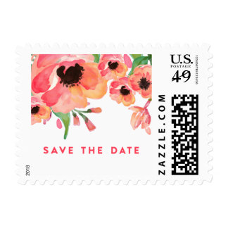 MODERN WATERCOLOR FLORAL postage stamp