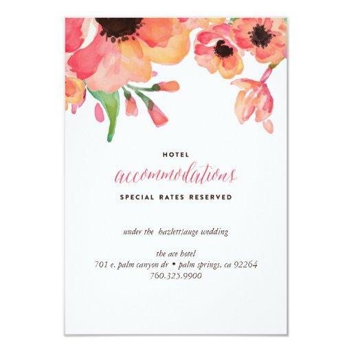 Modern watercolor floral wedding enclosure card zazzle