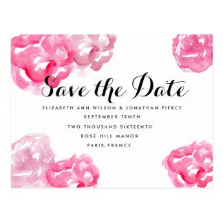 Modern Watercolor Floral Wedding Invitation Postcard