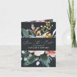 Modern watercolor foliage elegant script wedding announcement