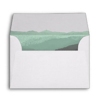 Modern Watercolor Mountain Envelope