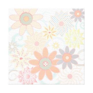 Modern Watercolor Pastel Floral Design Canvas Print