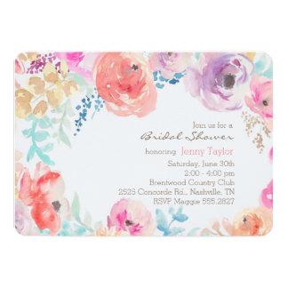 Modern Watercolor Peonies Bridal Shower Invitation