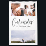 "Modern watercolor script multi photo calendar<br><div class=""desc"">Modern watercolor script multi photo calendar. The perfect family calendar for your self or as a gift.</div>"
