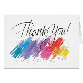 Modern Watercolor Thank you Notes Greeting Cards