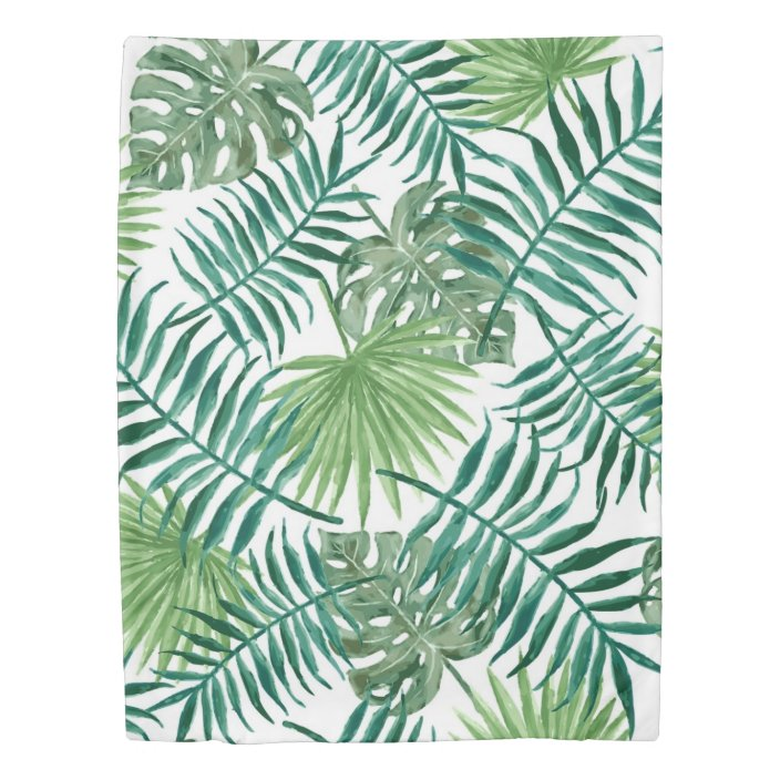 Modern Watercolor Tropical Palm Leaves Duvet Cover Zazzle Com ✓ free for commercial use ✓ high quality images. zazzle