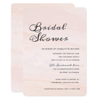 Modern Watercolor Wash Bridal Shower | Blush Invitation
