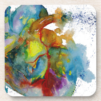 Modern Watercolour Anatomical Heart Coaster