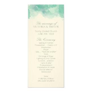 Modern Watercolour Wedding Program