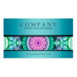 modern WaterLily mandala teal Double-Sided Standard Business Cards (Pack Of 100)