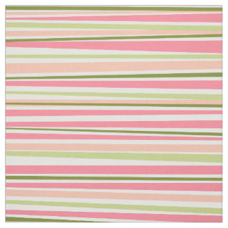 Modern watermelon colors stripes pattern fabric