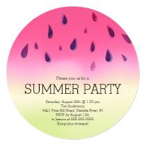 Modern Watermelon Summer BBQ Party Invitation