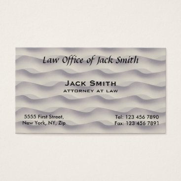 Lawyer Themed MODERN Waves Business Card