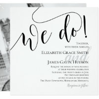 Modern We Do Photo Wedding Invitation