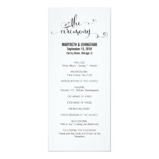 Modern We Do Script Wedding Program
