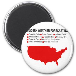 Modern Weather Map 2 Inch Round Magnet