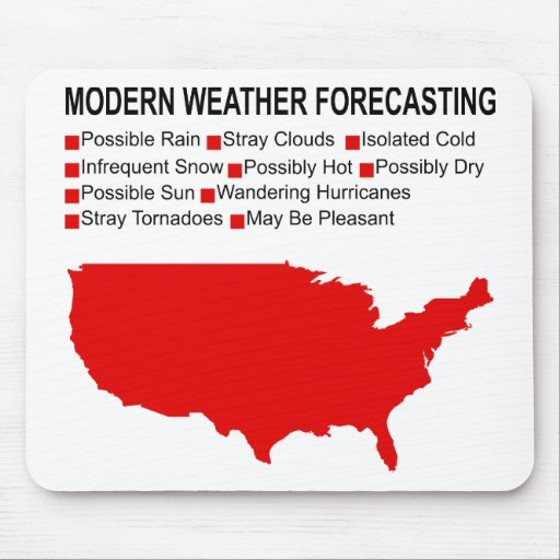 Modern Weather Map Mouse Pad