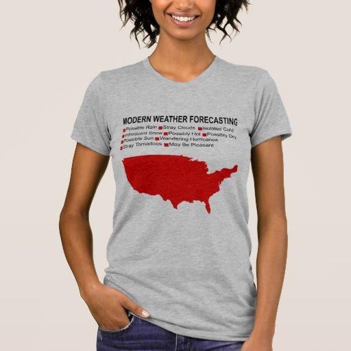 Modern Weather Map T Shirt