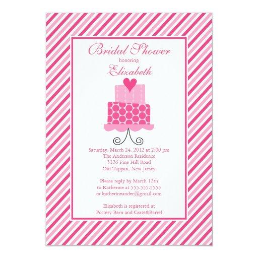 Modern wedding cake bridal shower invitation zazzle for Modern bridal shower invitations