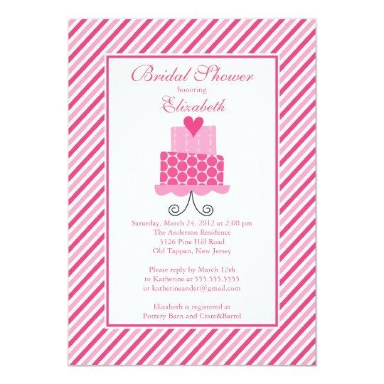 Modern Wedding Cake Bridal Shower Invitation