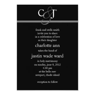 modern; wedding card