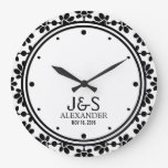 Modern Wedding Couple Personalized Wallclocks