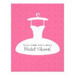 Modern Wedding Dress Bridal Shower Invitation Pink