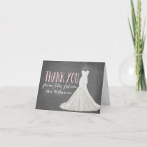 Modern Wedding Dress | Bridal Shower Thank You