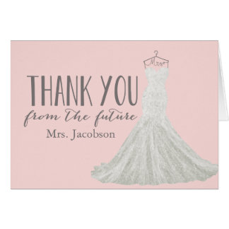Bridal Shower Thank You Cards - Invitations, Greeting & Photo ...