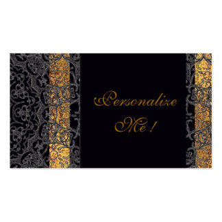 Modern Wedding Elegant Black/Gold Trendy Stylish Business Card